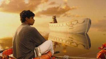 "Suraj Sharma in a scene from ""Life of Pi."""